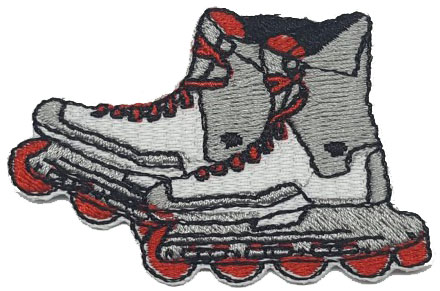 Patch Bordado Termocolante Patins - Ref: 65835 - COD. 1768