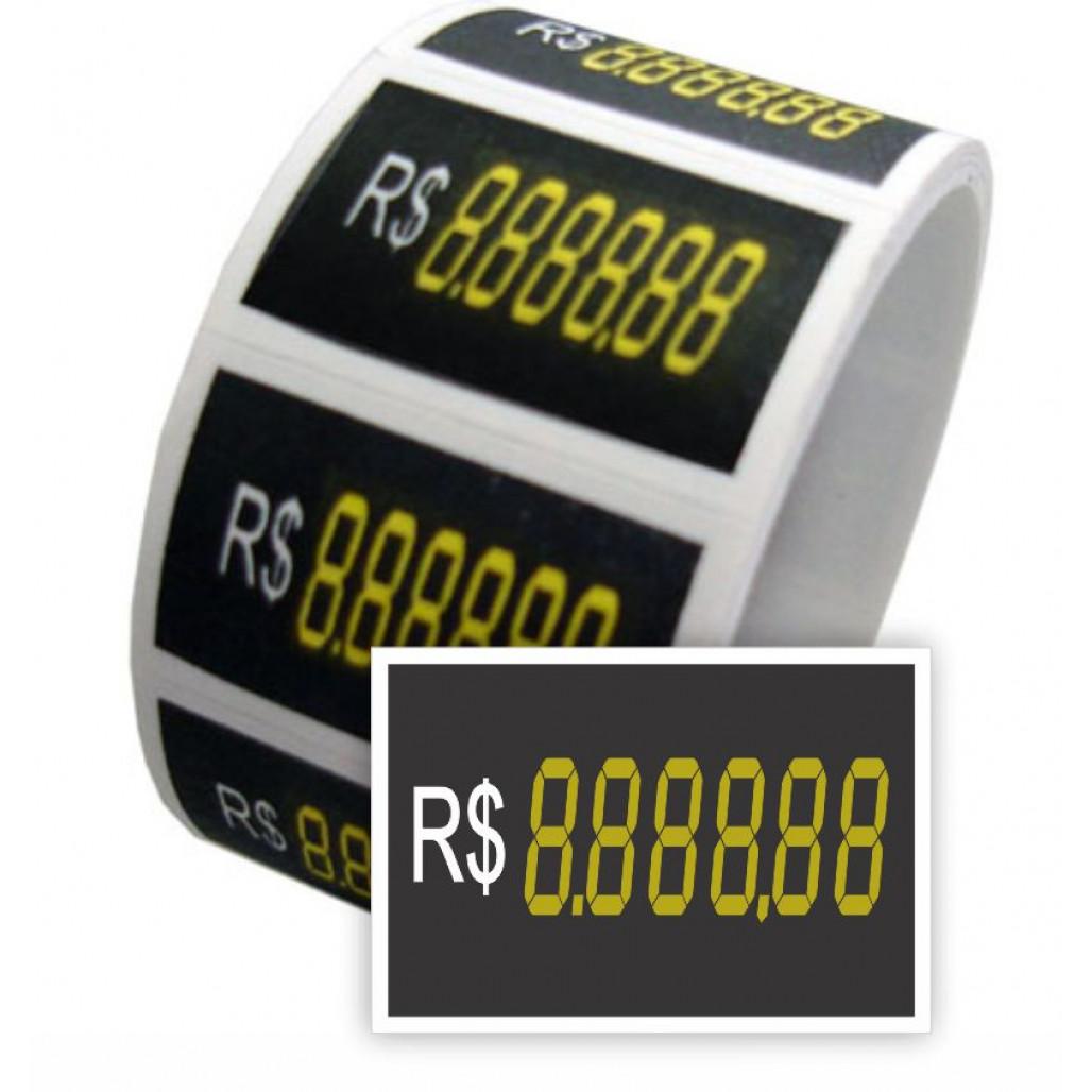 Etiqueta Adesiva Marca Preço - 65 x 45 mm