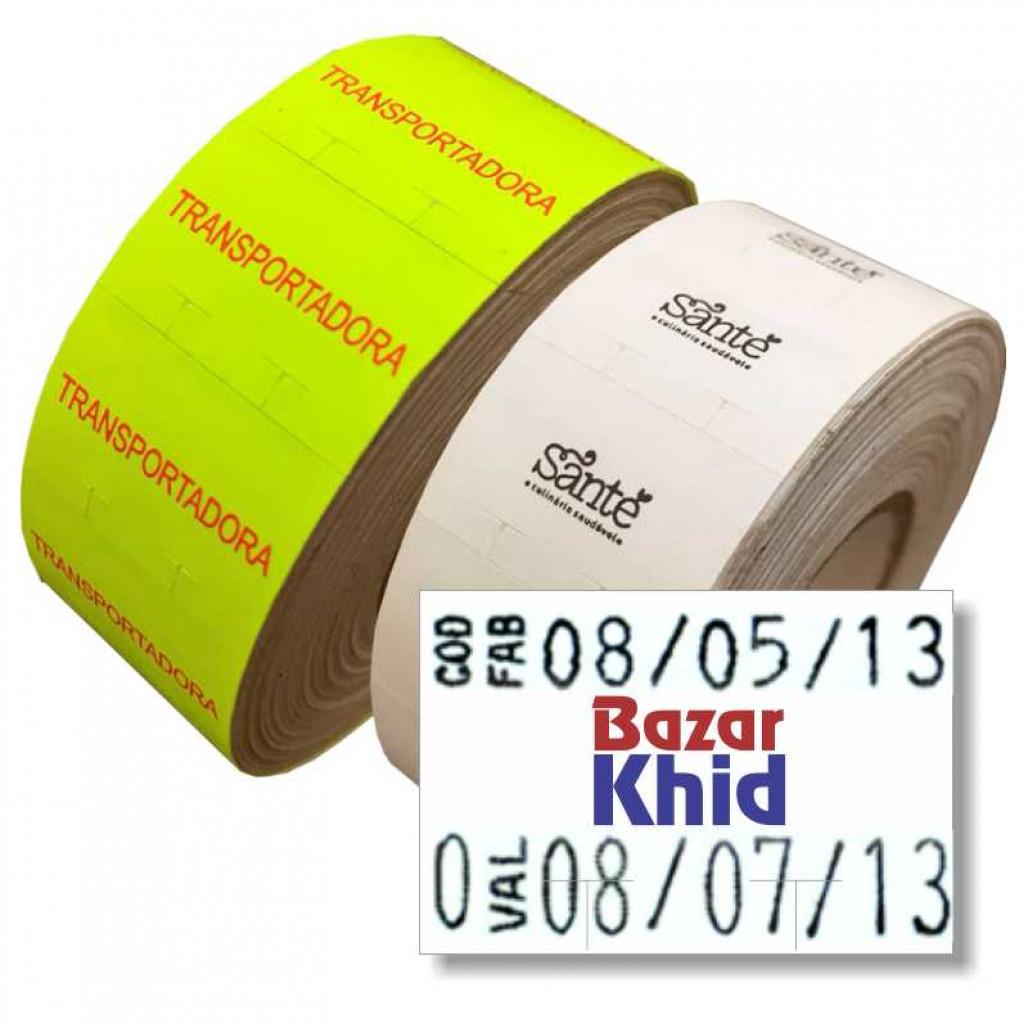 Etiqueta Adesiva MX 2316, 23 x 16 mm para Etiquetadoras, com Opções Personalizadas