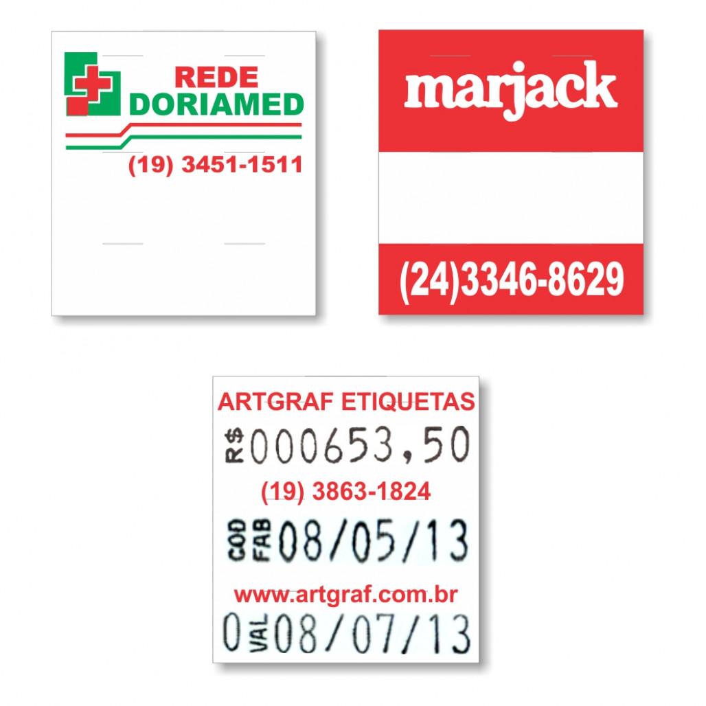 Etiqueta Adesiva, MX 2628, 26 x 28 mm para Etiquetadoras, com Opções Personalizadas
