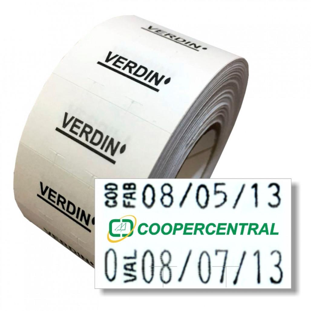 Etiqueta Adesiva, MX 2816, 28 x 16 mm para Etiquetadoras, com Opções Personalizadas
