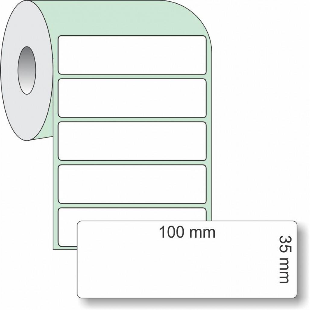 Etiqueta Adesiva Couchê, 100 x 35 mm x 1 coluna, para Impressoras Térmicas