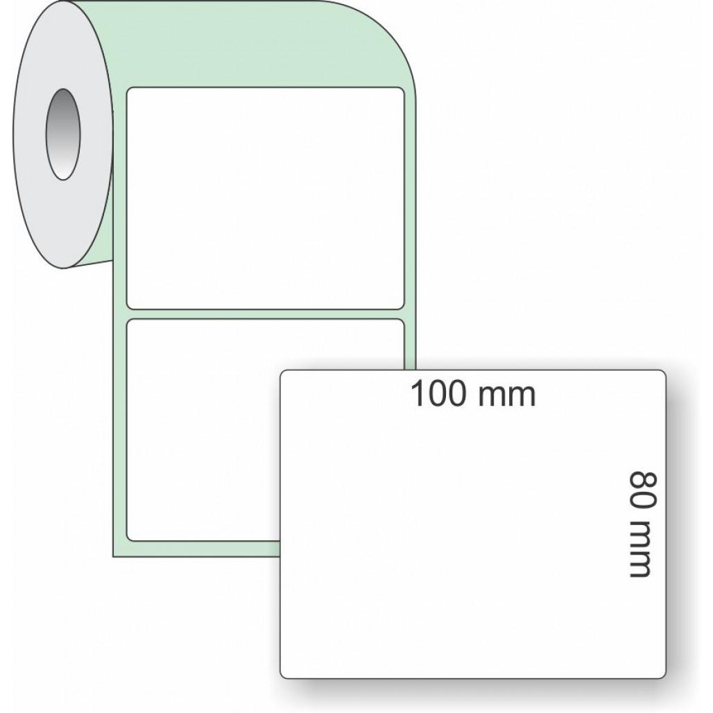 Etiqueta Adesiva Couchê, 100 x 80 mm x 1 coluna, para Impressoras Térmicas