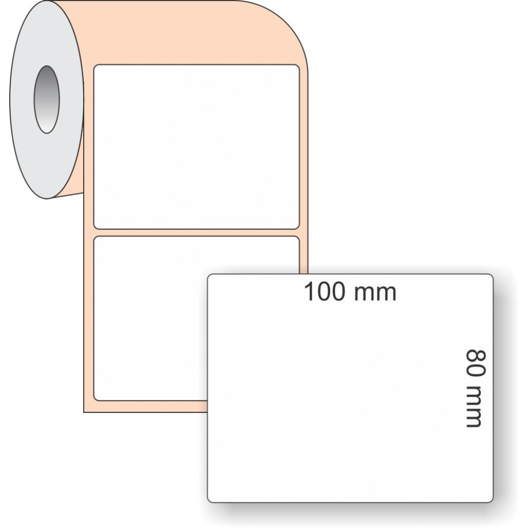Etiqueta Adesiva BOPP, 100 x 80 mm x 1 coluna, para Impressoras Térmicas