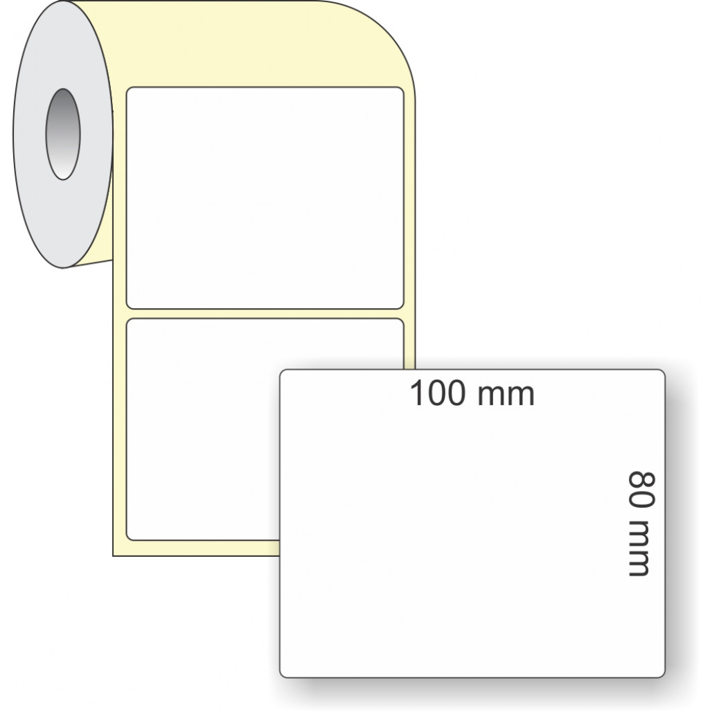 Etiqueta Adesiva Térmica, 100 x 80 mm x 1 coluna, para Impressoras Térmicas