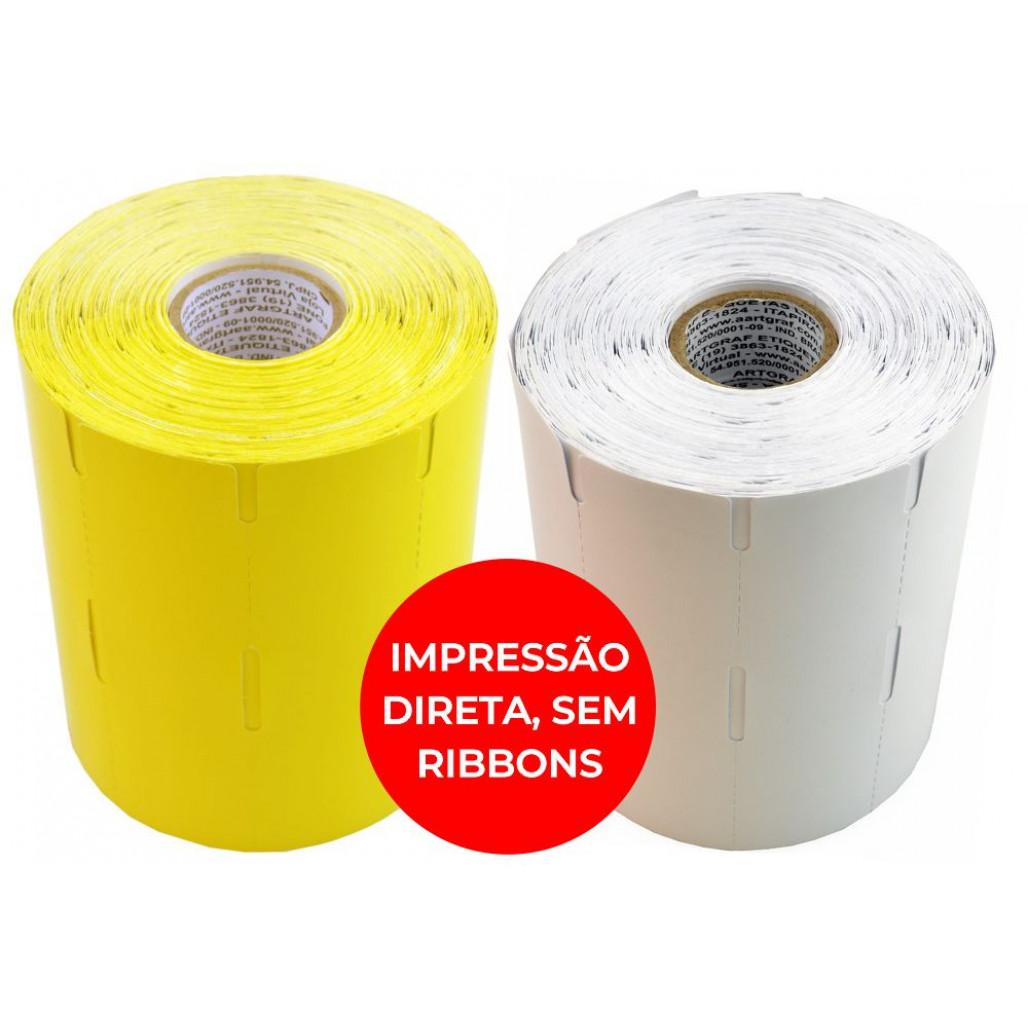 Etiqueta de Gôndola em Papel Térmico, 110 x 30 mm para Impressoras Térmicas Diretas