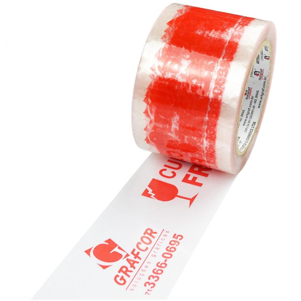 Fita Adesiva Transparente, 70 mm de largura, Cola Extra Forte, com Opções Personalizadas