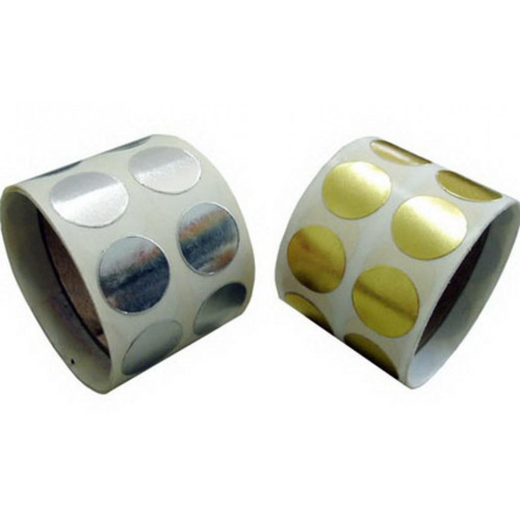 Etiqueta Adesiva Lacre Ouro/Prata 15 mm