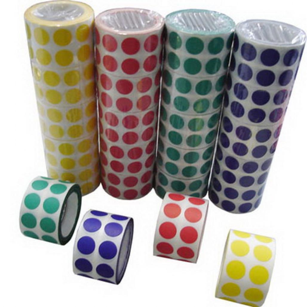 Etiqueta de Controle Colorida 15 mm, 16 cores diferentes