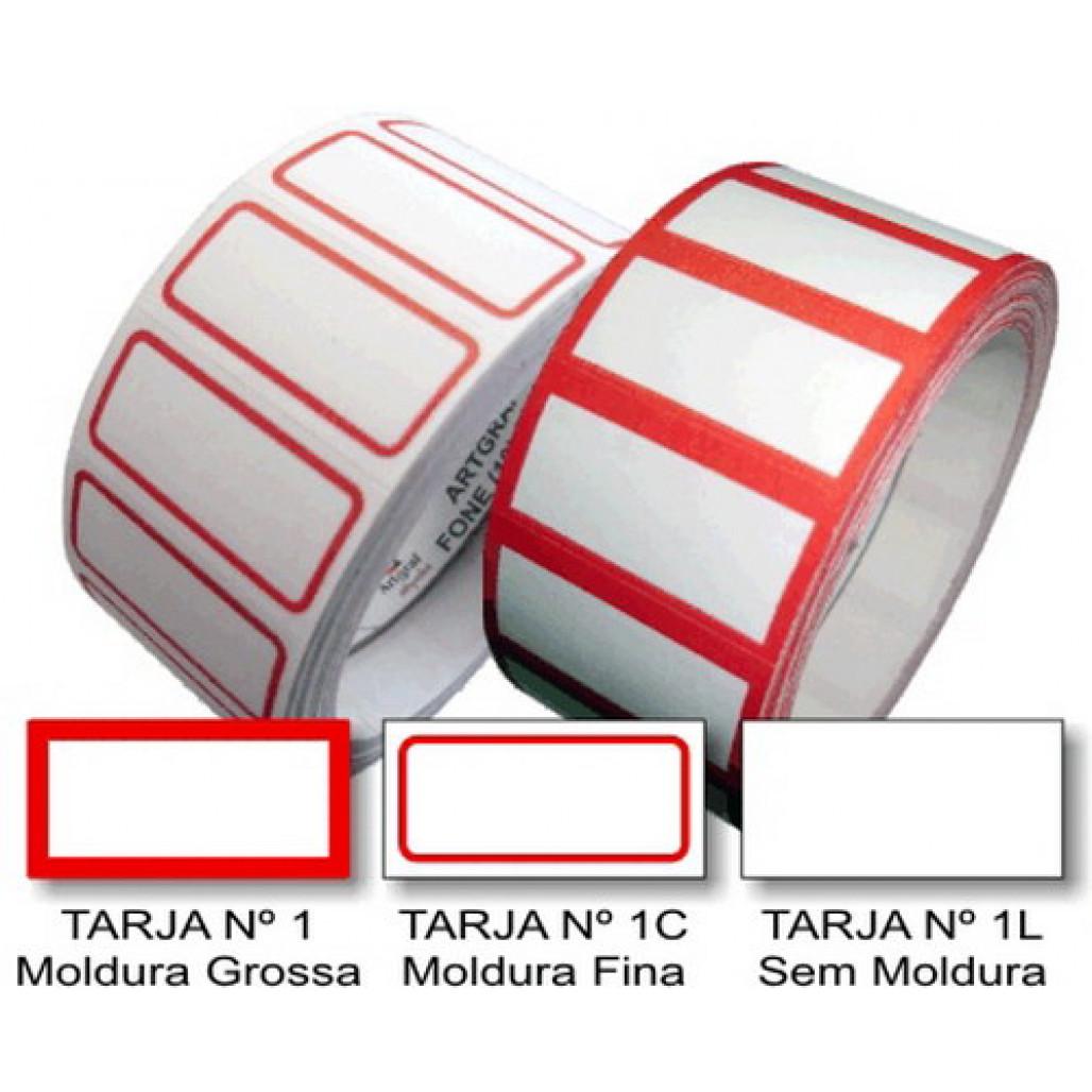 Etiqueta Adesiva de Preço 12 x 25 mm (Nº 1, 1C e 1L)