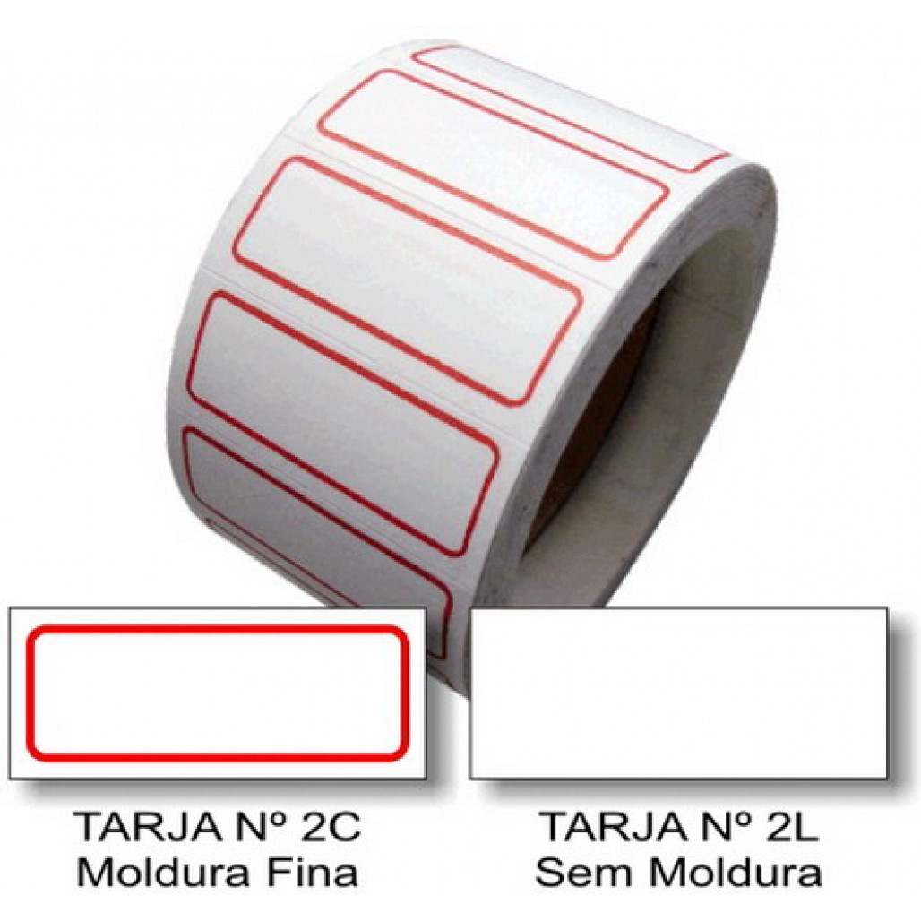 Etiqueta Adesiva de Preço 12 x 30 mm (Nº 2C e 2L)