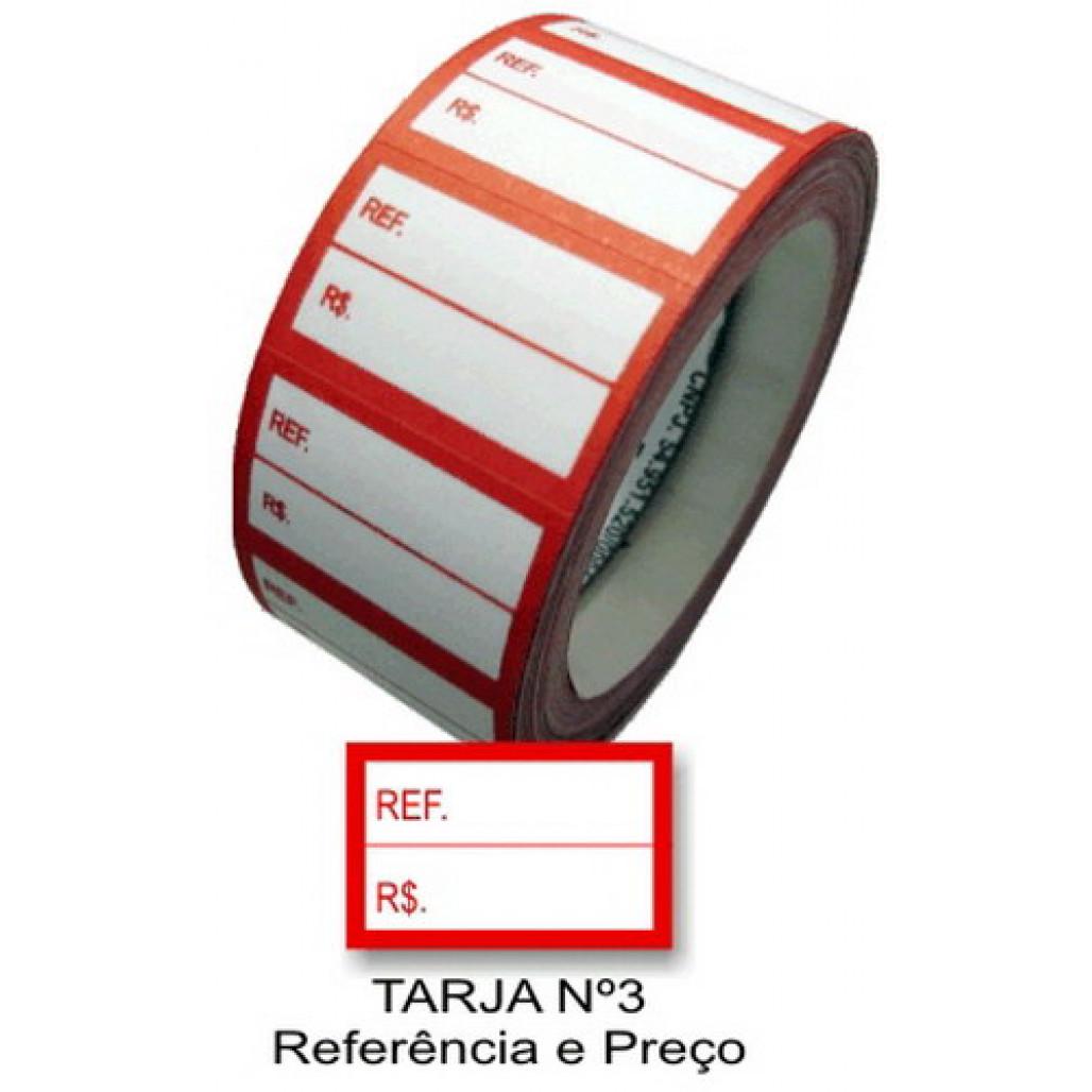 Etiqueta Adesiva Referência e Preço 16 x 25 mm (Nº 3)-Rolo com 500 Etiquetas