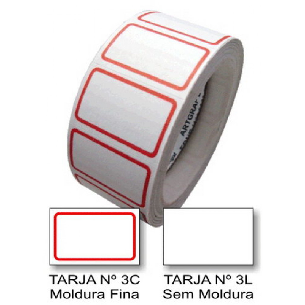 Etiqueta Adesiva de Preço 16 x 25 mm (Nº 3C e 3L)