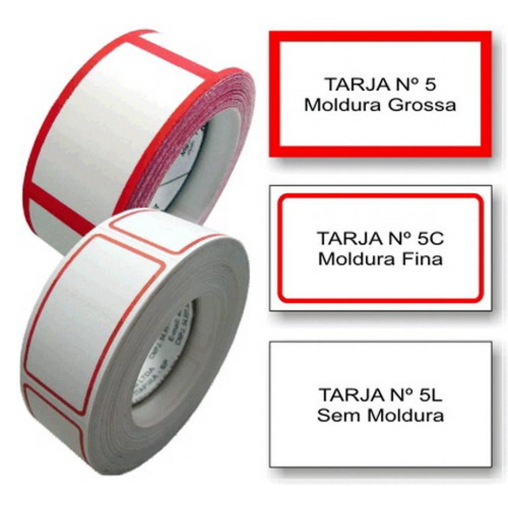 Etiqueta Adesiva Tarjada 25 x 45 mm (Nº 5, 5C e 5L)