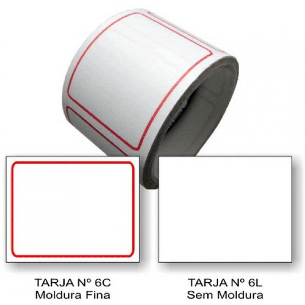 Etiqueta Adesiva Tarjada 35 x 45 mm (Nº 6C e 6L)