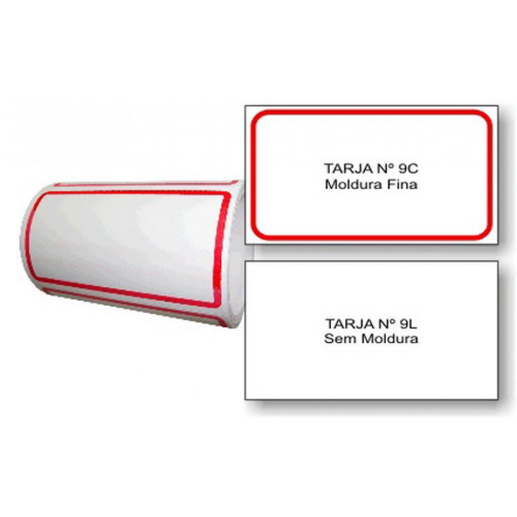 Etiqueta Adesiva Tarjada 45 x 80 mm (Nº 9C e 9L)