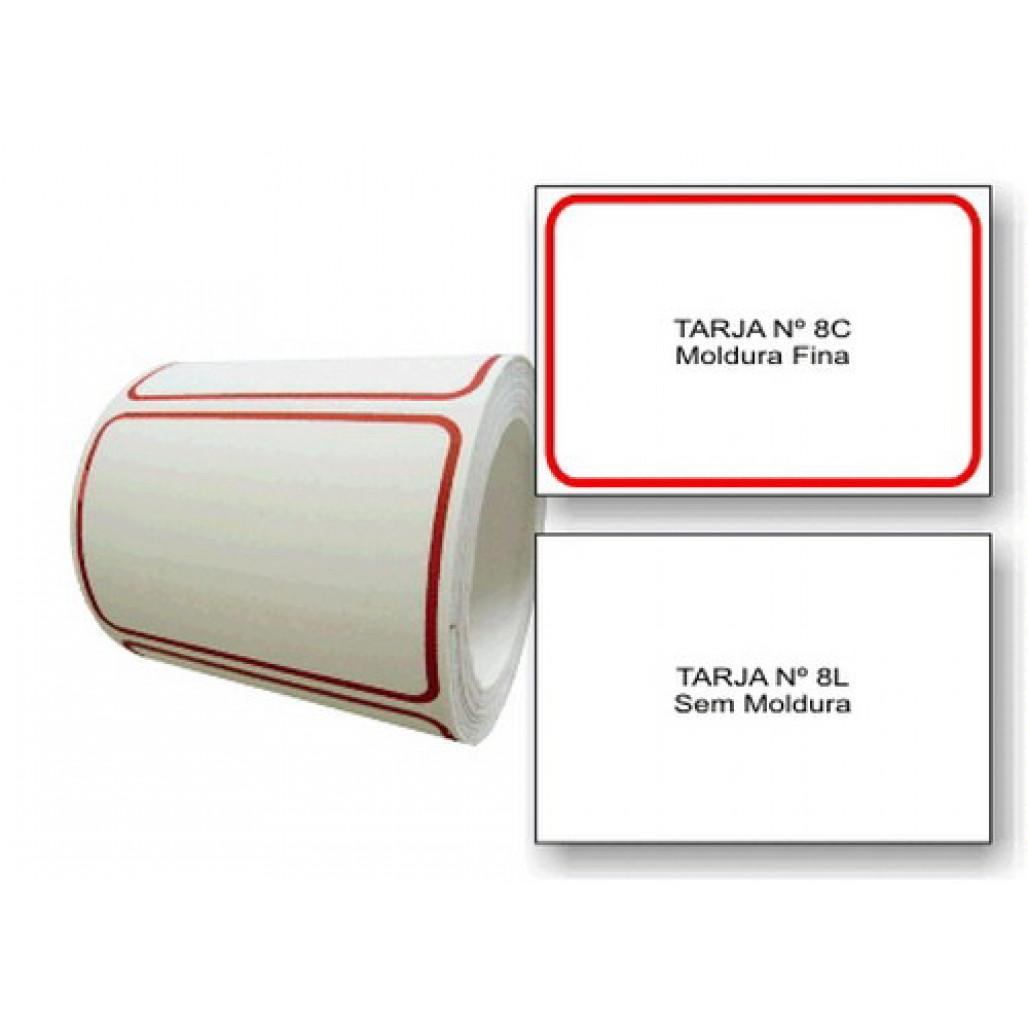 Etiqueta Adesiva Tarjada 45 x 65 mm (Nº 8C e 8L)