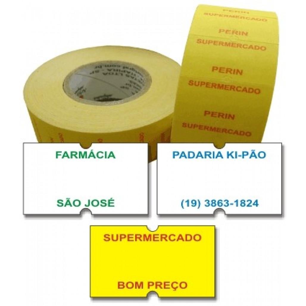 Etiqueta Adesiva Pico 1Y, MX 5500, 21 x 12 mm para Etiquetadoras, com Opções Personalizadas