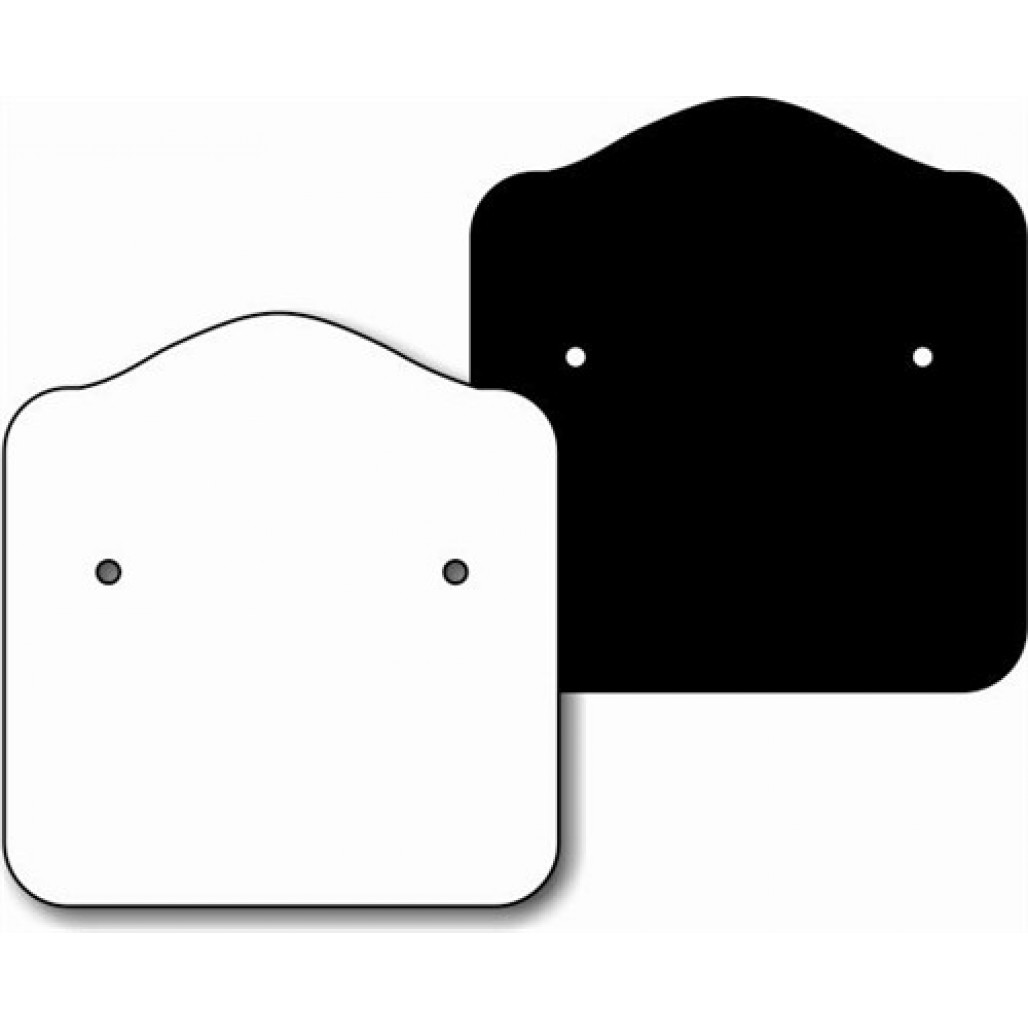 Joia Fix Nº 53 Branca ou Preta, 31 x 33 mm