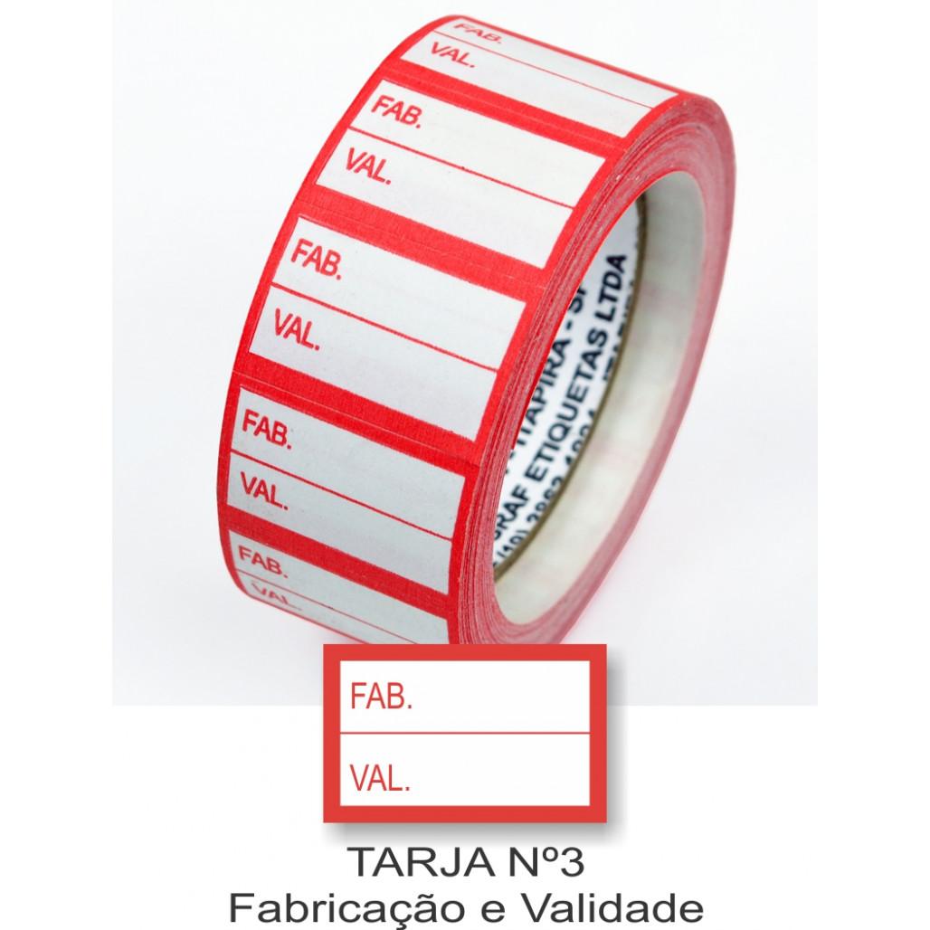 Etiqueta Adesiva Fabricação e Validade 16 x 25 mm (Nº 3)