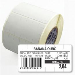 Etiqueta Adesiva Térmica, 60 x 30 mm, para Balanças