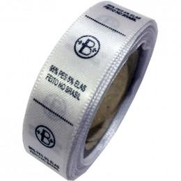 Etiqueta em Cetim Premium Branco, Largura 15 mm, com Opções Personalizadas
