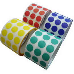 Etiqueta de Controle Colorida 10 mm, 16 cores diferentes